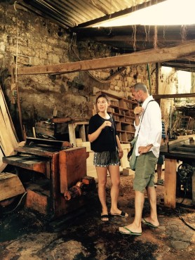 Inside the woodcrafter's atelier