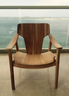 Wooden chair - Front view