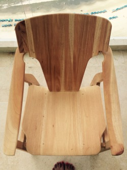 Wooden chair - Top view