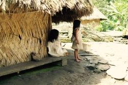 Indigenous children in their indigenous village